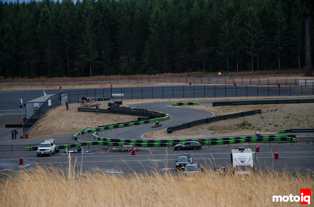 Kart on a scale model of the road course