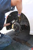 Front installation of the WinmaX W4 brake pads.