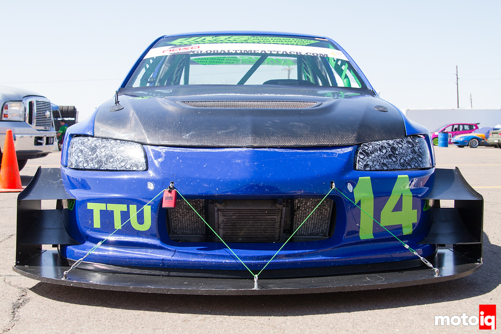 UMS Evo Time Attack AIT Racing custom splitter fathead fabrications
