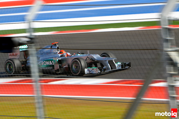 Michael Schumacher Mercedes GP Turn 16 17 18 United States Grand Prix USGP F1