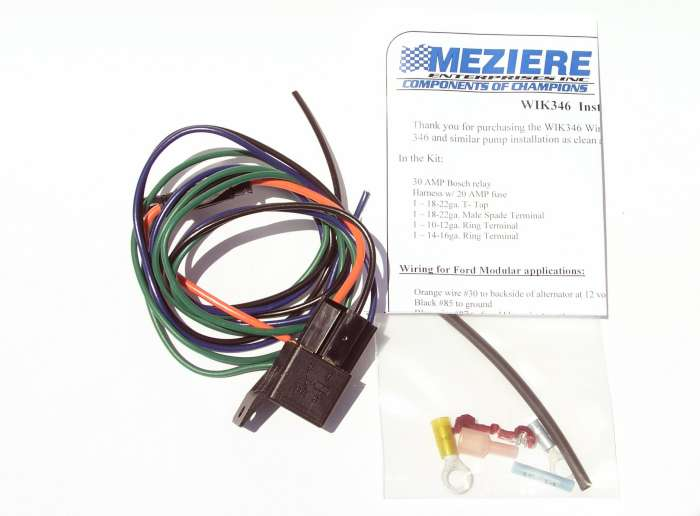 Meziere Electric water Pump Camaro and Corvette relay kit