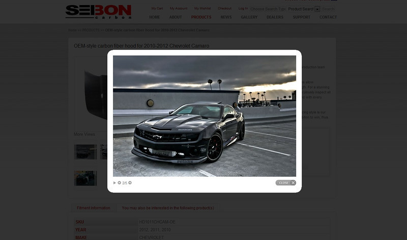 Seibon, Seibon Carbon, product fitment, website