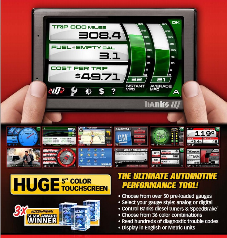 Banks IQ for Gas and Diesel OBDII Cars and Trucks