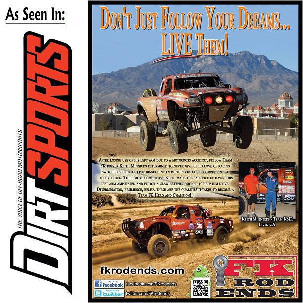 Keith Minnicks Racing Dirt Sports Ad