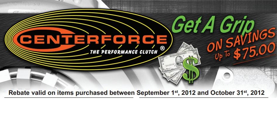 Centerforce rebate