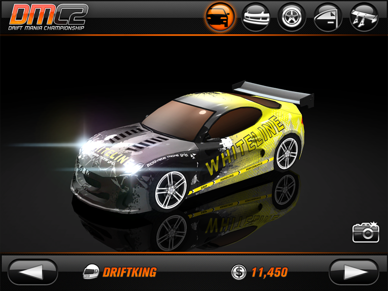 Whiteline, Game App, Drift Mania Championship 2`