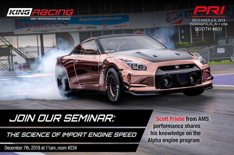 king, king racing, king engine bearings, PRI