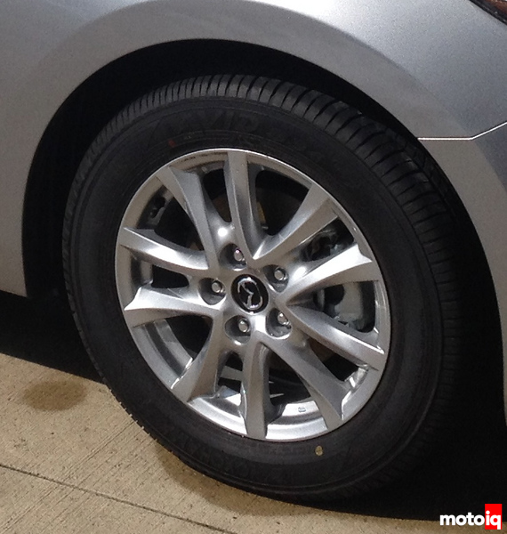 The Stock Wheel And Tire Package Is Pretty Tame: MPG Friendly Yokohama  205/60R16 All Season Tires On 16×6.5 Inch Alloys That Weigh 17 Pounds A  Piece.