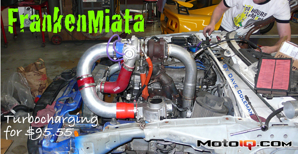 Frankenmiata Mazda B6 Miata engine by the dumpster