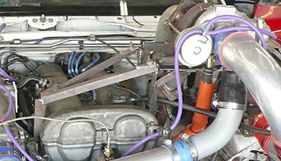 Frankenmiata turbo mounting brace