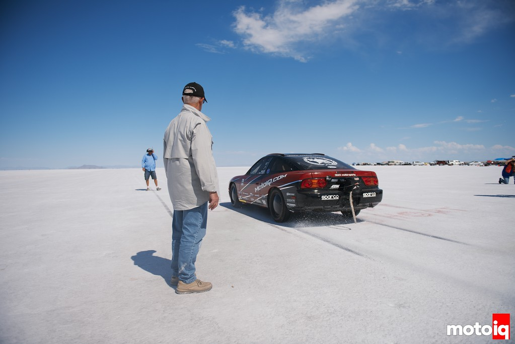 At the staring line at the 2014 Bonneville Salt Flats World of Speed