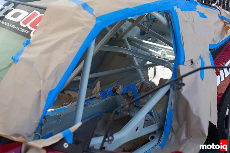 Project 240sx masked down for a coat of Marine Paint