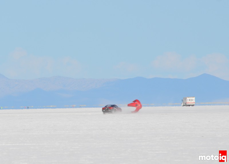 Bonneville Salt FLats World of Speed MotoIQ Project 240sx spin at 193mph