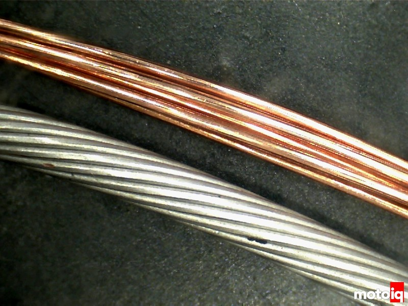 Tefzel silver tinned wire versus OEM plain copper wire