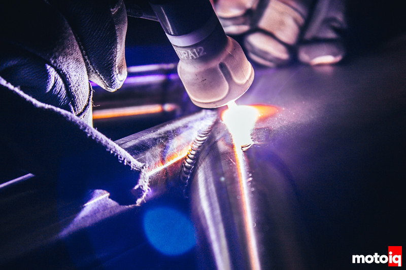 Holding a star. The torch heats the steel to right around 1500 degrees near instantly.