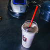 We took a break to have a treat. The milkshakes from QT are surprisingly tasty!