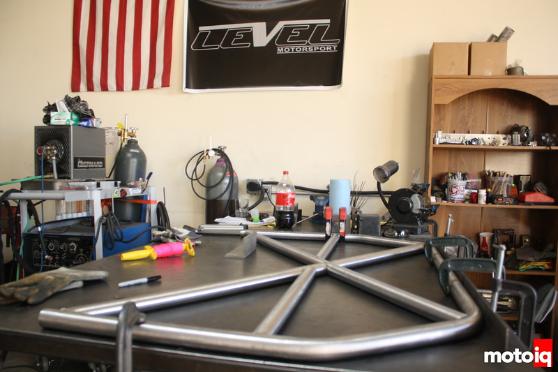 Everything needs to stay exactly in place, so we get wild with the clamps.