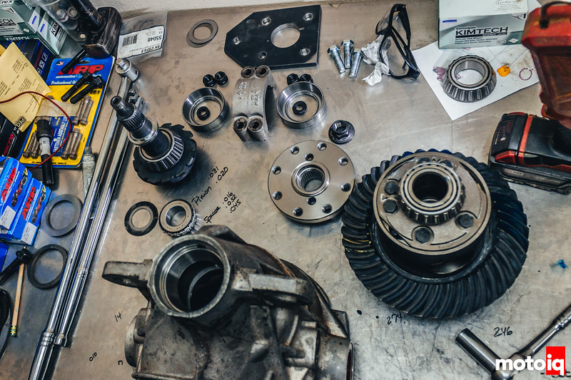 All of the pieces, once we got everything shimmed properly and to spec.