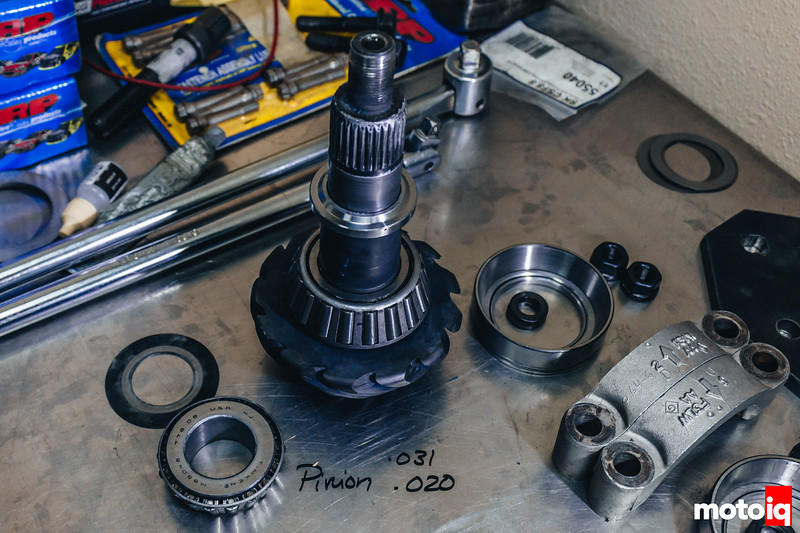 A slightly thicker shim on this stack can mean adjustments throughout the rest of the diff.