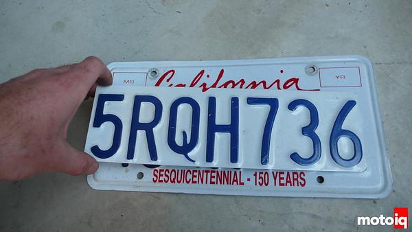 miata license plate cut down