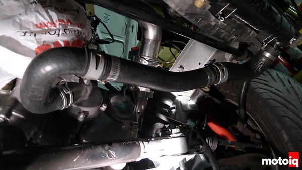 Project Miatabusa fuel pressure regulator radiator and oil cooler plumbing