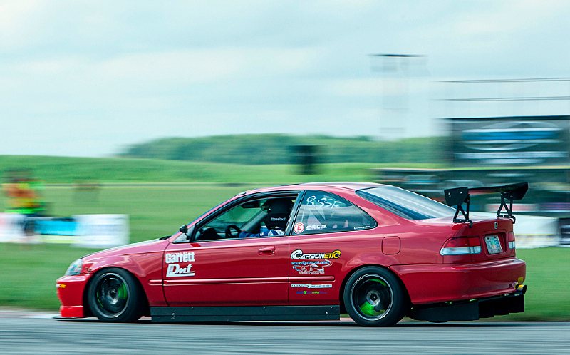 Chris Boersma's very fast Honda Civic.