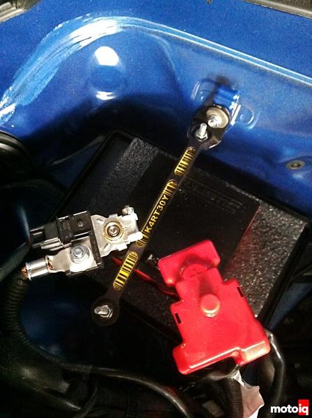 Ballistic Evo2 battery Kartboy battery tiedown