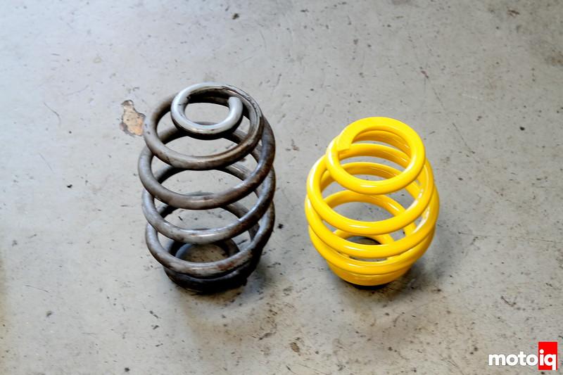 Rear spring comparison