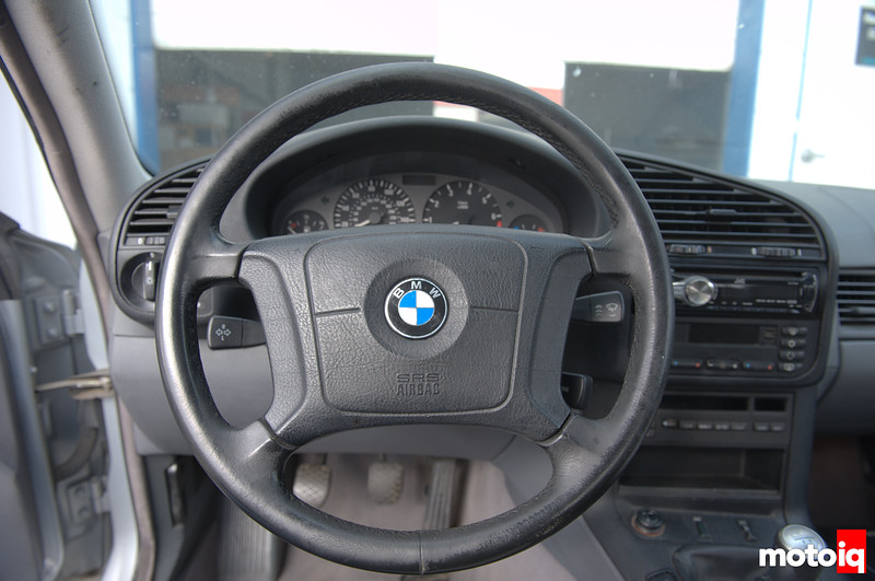 Stock E36 steering wheel