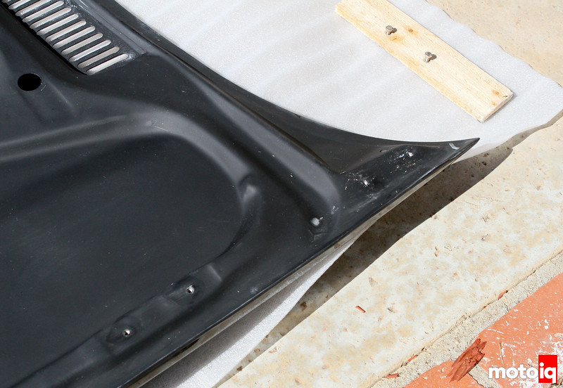 Seibon hood has provisions for all OE hardware and latches.