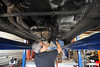 removing the OEM midpipe and exhaust