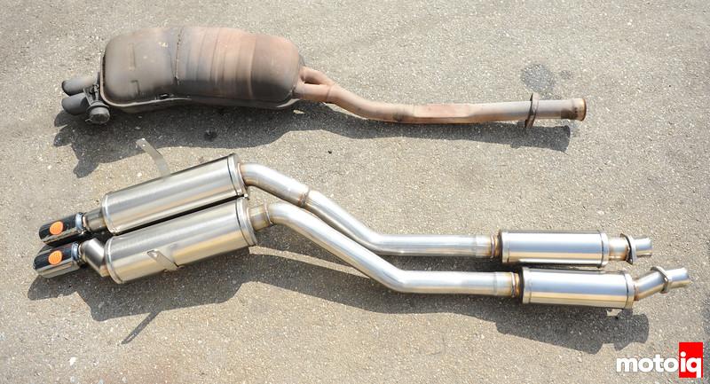 E36 Corsa exhaust versus factory 323is comparison