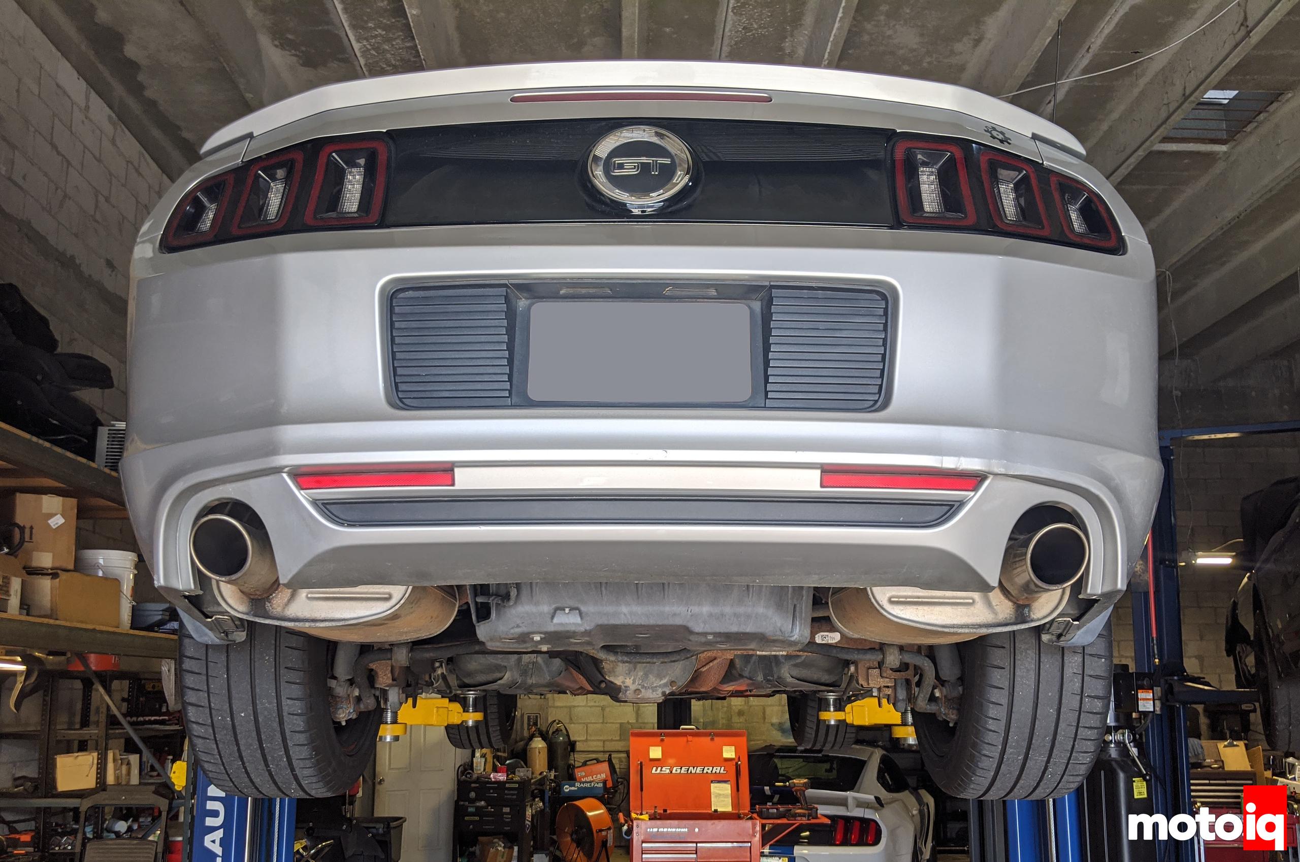 Stock 2014 Mustang GT Exhaust