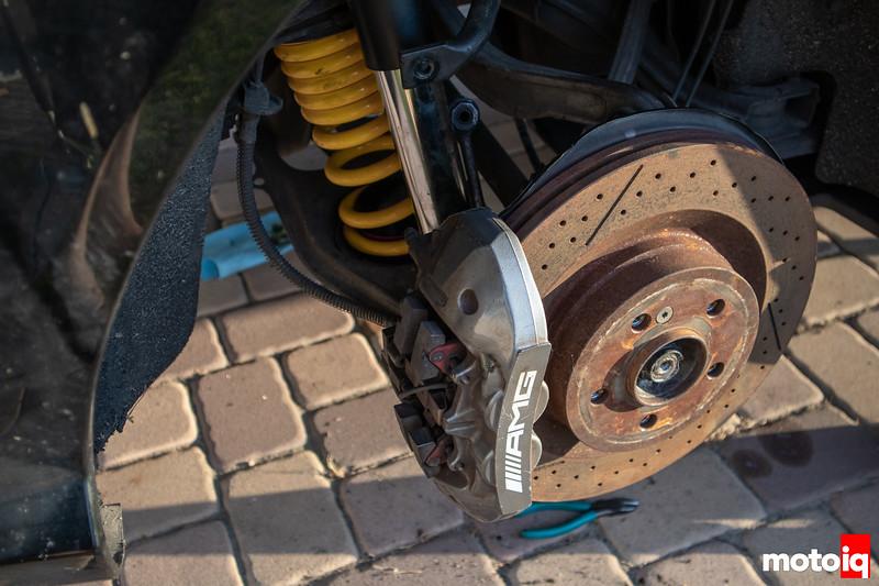 C63 AMG rear brake caliper