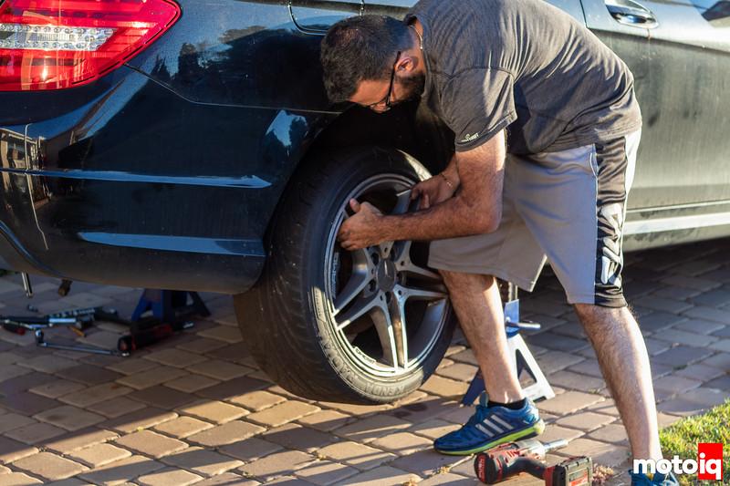 Removing C63 AMG rear wheel