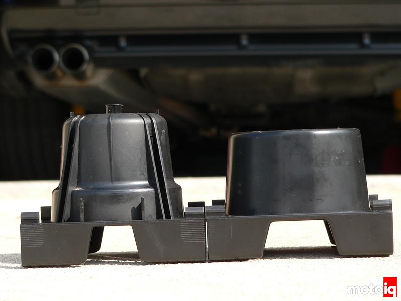 BMW stock E36 cup holder versus Origin Equipment