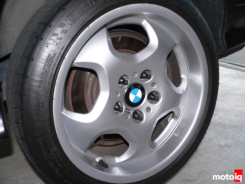 BMW wheel with new Bavarian Autosport wheel caps