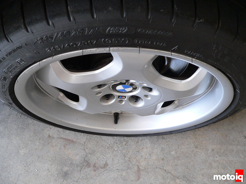 bmw wheel with spacer and 75mm studs