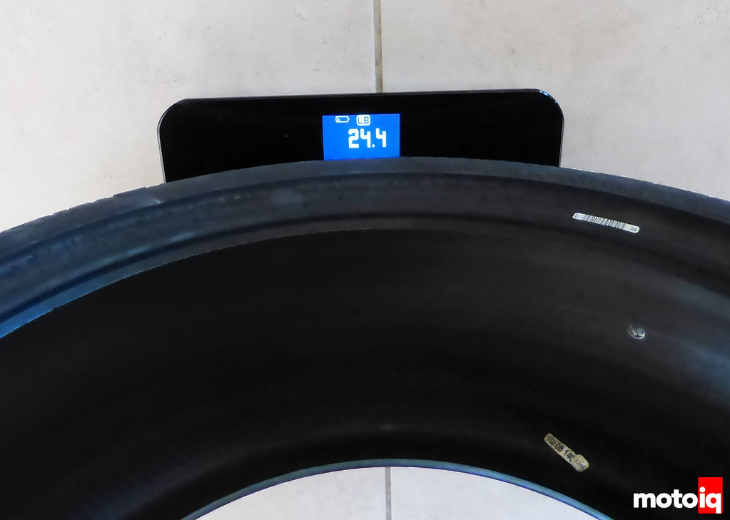 Rear Conti Tire Weight