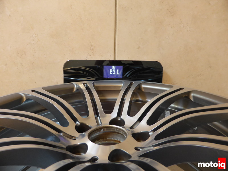Front stock wheel weight