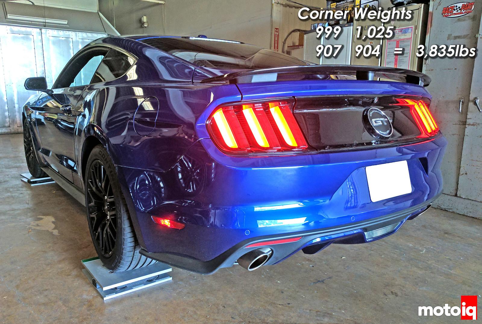 2016 Mustang GT CS scales corner weight