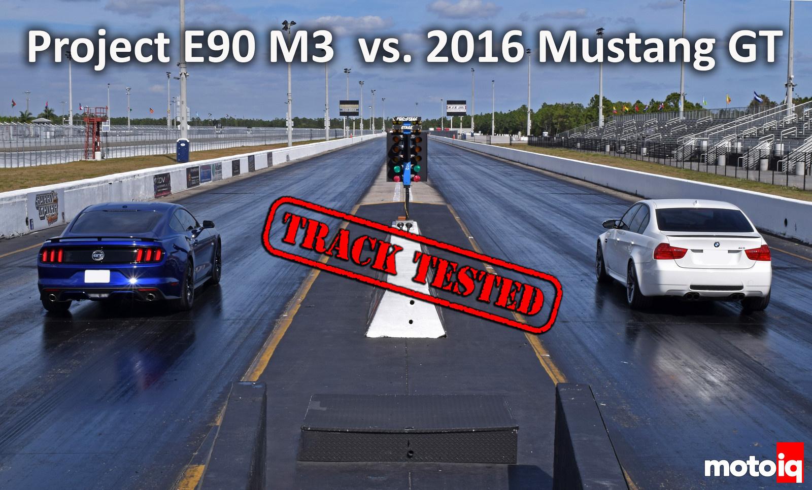 Preoject E90 M3 vs 2016 Mustang GT cover