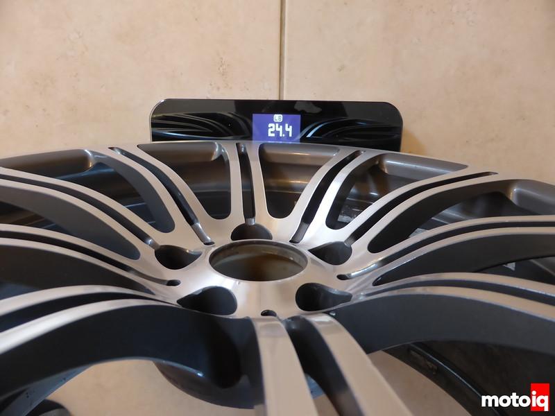 Stock Rear wheel weight