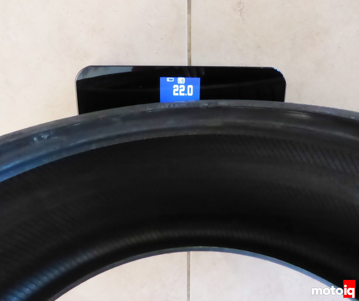 Front Conti Tire Weight