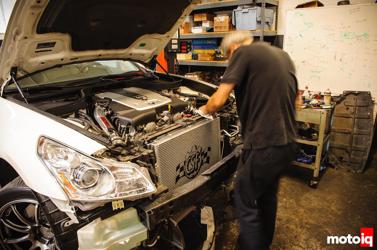 CSF Radiator install for G37