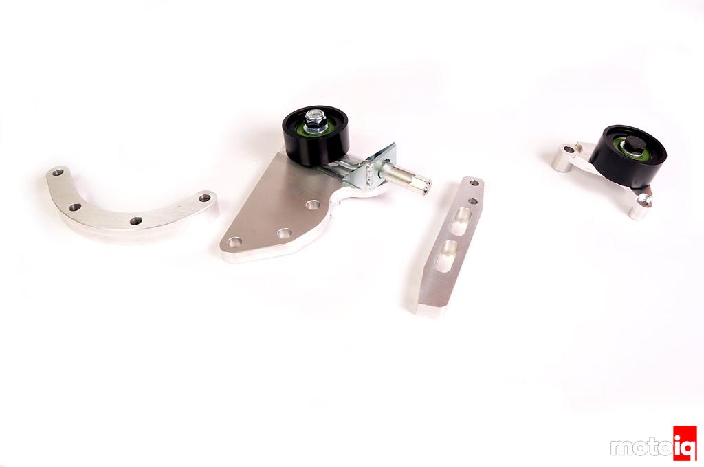 Stillen Supercharger Tensioner and idler pulley brackets