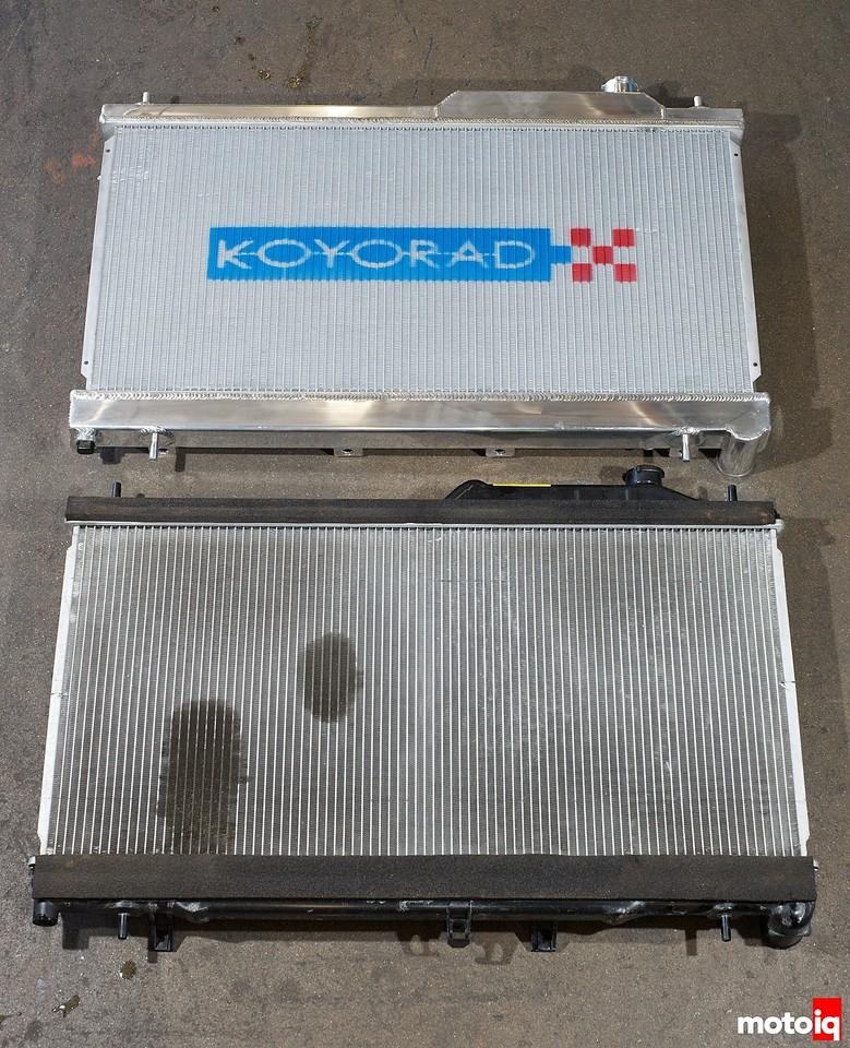 Koyo STI radiator vs Stock