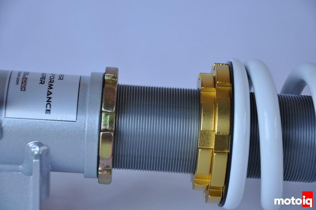 M7 coilover spring perch body jam nut STi suspension damper