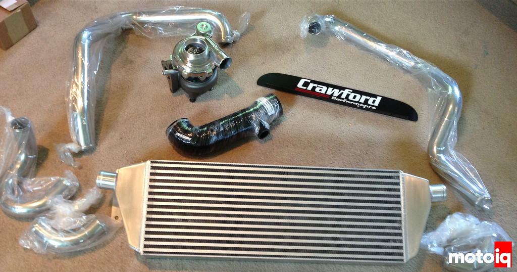 Crawford Performance FMIC front mount intercooler Ghymkana
