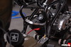Frame mod to clear the forward mounted carburetor